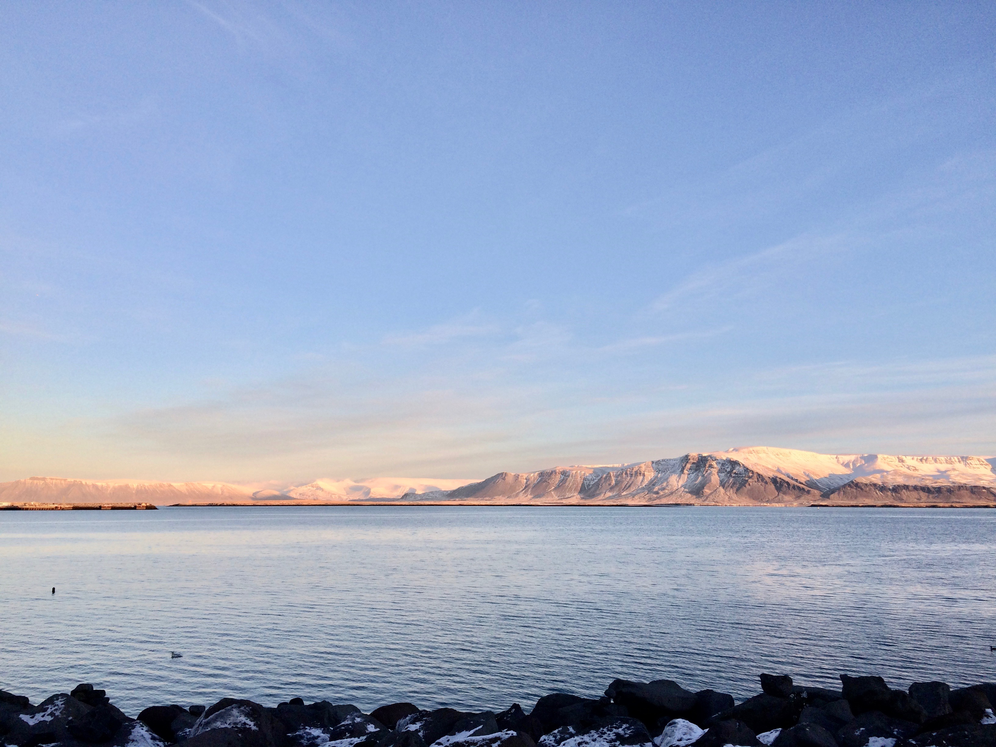 Landscape view from Reykjavik Harbour