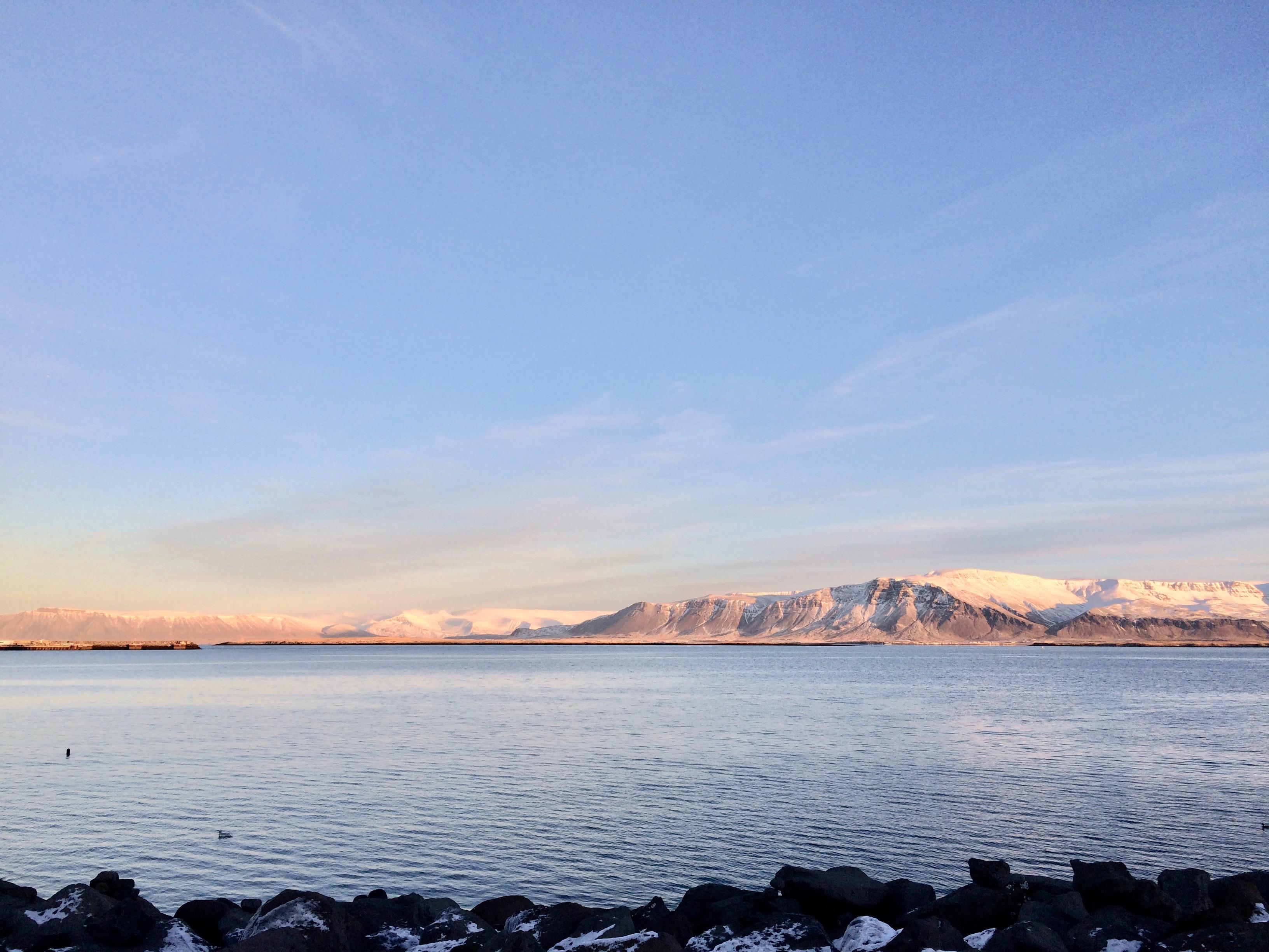 Landscape view from Reykjavik Harbour